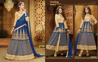 Hot!!! Long Indian Pakistan Anarkali Designer Wedding Bridal Suit Salwar Kameez