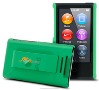 Ultra slim slide-on shell case with polyurethane matte coating and durable ABS PC for iPod Nano 7th Generation (green) S1 series