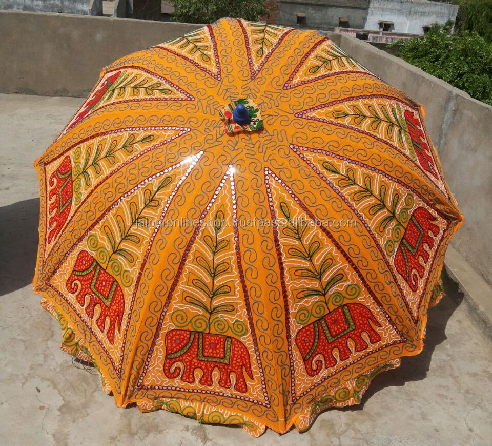 Girls Beach Umbrellas / Ladies Embroidery Sun Umbrellas