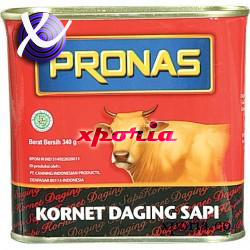 PRONAS Corned Beef 340gr | Indonesia Origin | Popular cheap halal certified canned meat