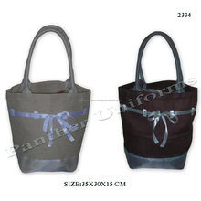 Juco grocery bag with tissue base covering & tissue made belt design on the upper body with padded rope handle