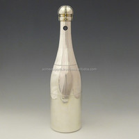 Brass Champagne Bottle Cover With Silver Plated Finish