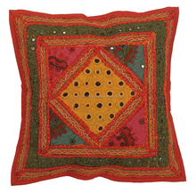 Trendy Latest Designer Indian Handmade Patch Cushion Cover For Gift Purpose
