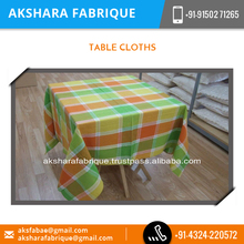 New Eye Catching Design Table Cloth with Fabric Painting