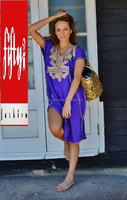 Purple with Gold Marrakech Exclusive Branded Women's Tunic 2015