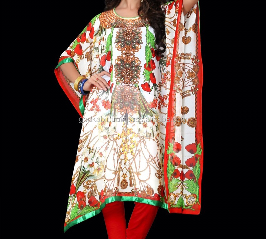 Vintage And High Top Demand recently manufactured hand embroidered Royal Digital printed design wholesale rate kaftan /caftan