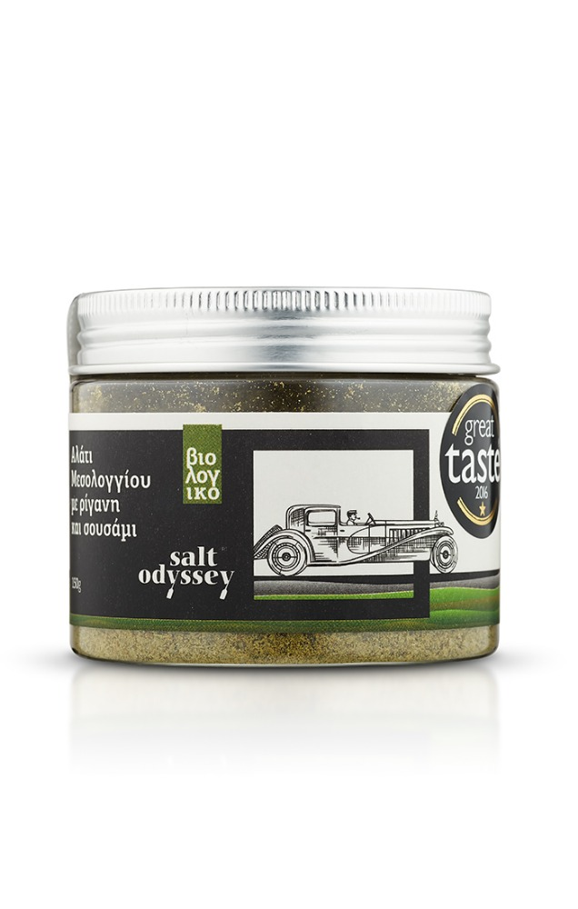Salt Odyssey - Sea Salt with oregano and sesame certified organic (Jar)