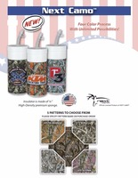 USA Made 32 oz Sublimated Camouflage Insulated Water Bottle - features a sponge insulator and comes with your logo