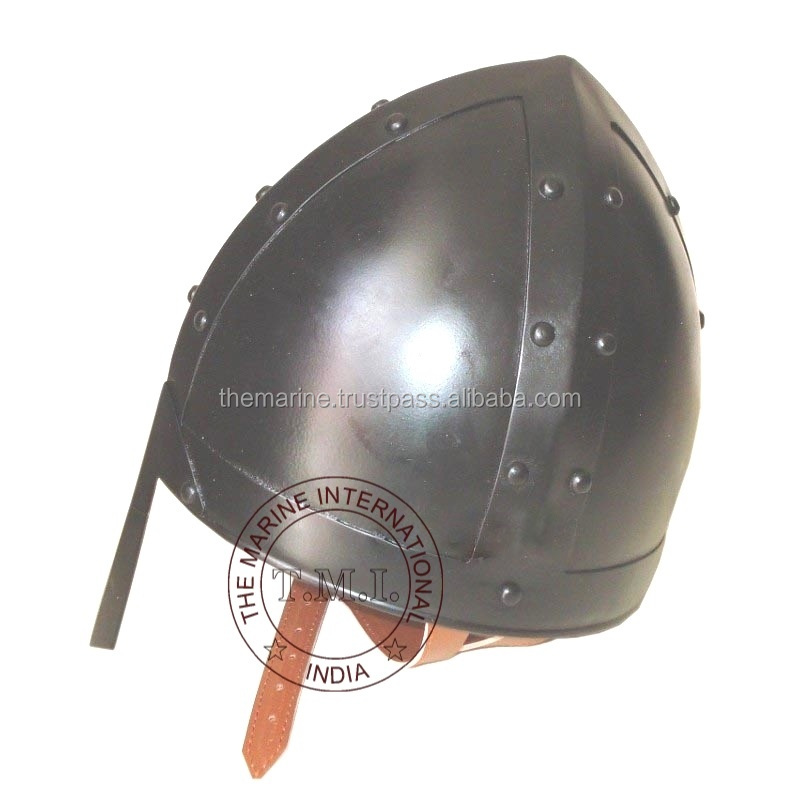 Black Antique Medieval Norman Knight Armor Helmet