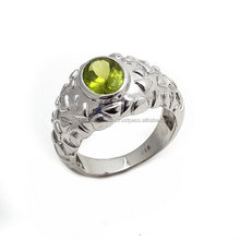 New arrival high quality beautiful Peridot mans ring
