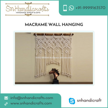 Excellent Finish Premium Quality Macrame Wall Hanging for Hotel Decoration
