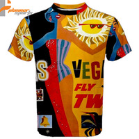 Vintage Vegas Ad Poster Sublimated Sublimation T-Shirt S,M,L,XL,2XL,3XL