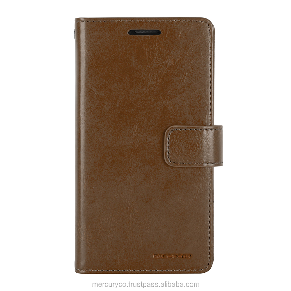PU leather diary phone case Mercury Mansoor Diary (Brown)