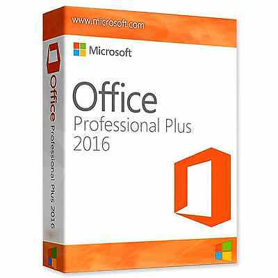 New Microsoft Office 2016 Professional Plus-1 PC Download Link- License Key-Instant Delivery