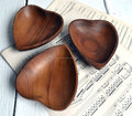 Decorative Heart Wooden Bowl