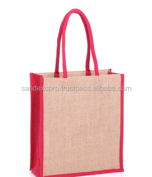 Tote Bag Jute And Cotton