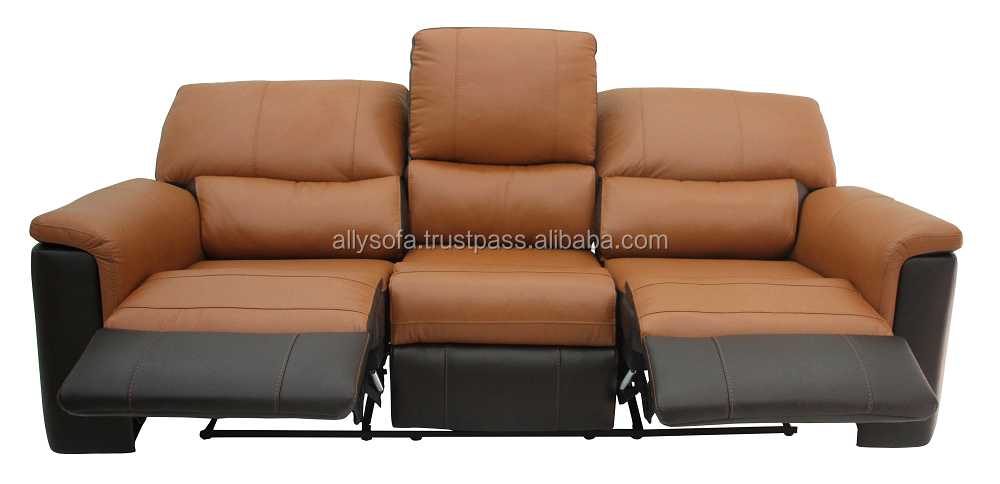 Motion Recliner 3 seater Glider leather & PVC sofa with Modern Design Furniture 003705634