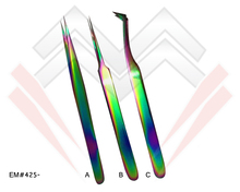 Top Quality Volume Lash Tweezers With Multi coloured Points MARIG - PAKISTAN