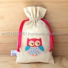 Cotton drawstring event gift bag, skype:daisy.hanoipie