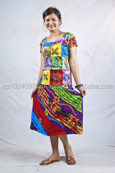 Tunics/Nepal/Skirts/Dresses/Girls/Kurta/Tops / All Color/K 34