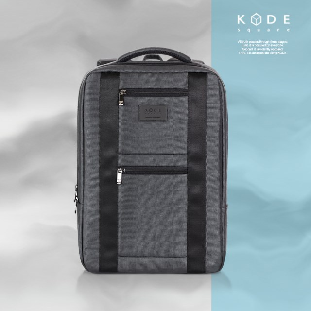 [KODE SQUARE] 15.6 inch business laptop bags travel backpack (KBWM-BP-003-GY)
