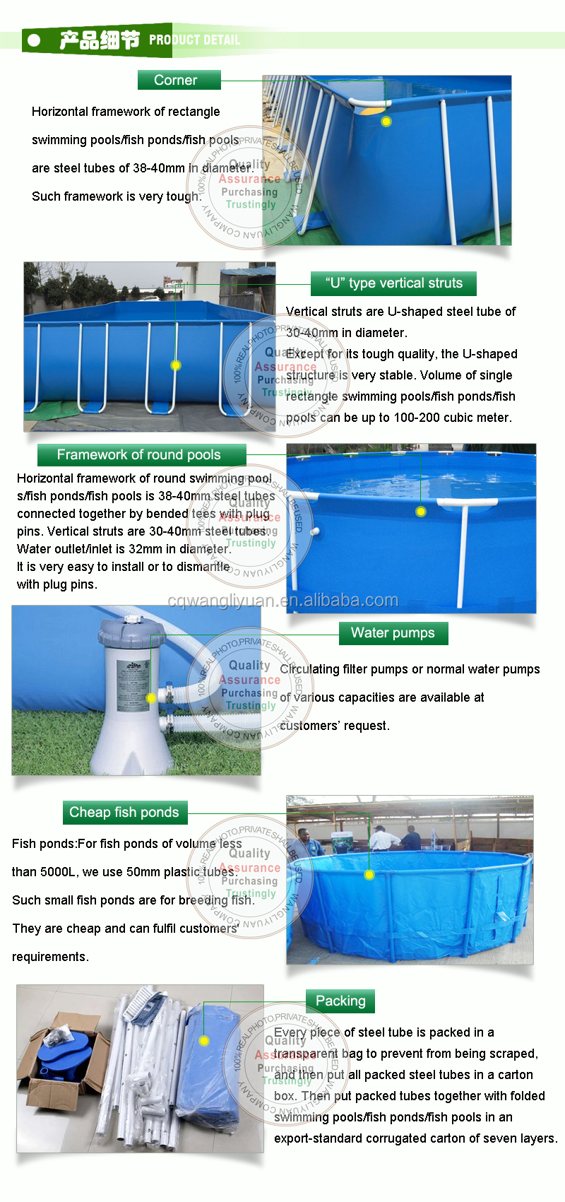 WLY PVC collapsible recirculating acquaculture system plastic tank