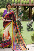 Multi Colour Printed Saree Buy Online