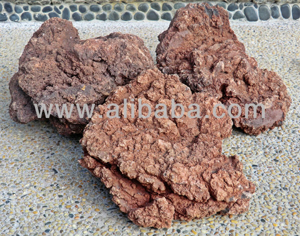 NATURAL RED VOLCANIC / LAVA ROCK (Akaiyogan)
