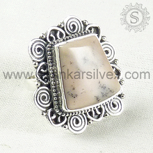 Natural Beauty !! Cheap Indian Silver Jewelry, Pink Opal Wholesaler Silver Ring, Promotional 925 Jewelry RNCB2078-3
