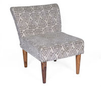 Natural Fibres Printed Cotton Upholster Dining Chair