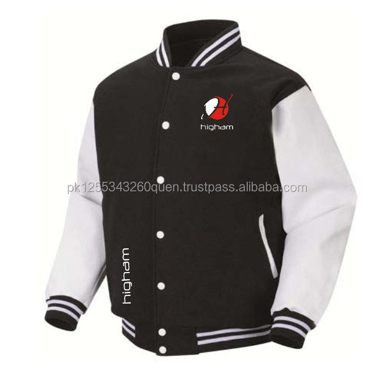 USA Fashion Satin Polyester Varsity Baseball Jackets Unisex Customise with filling