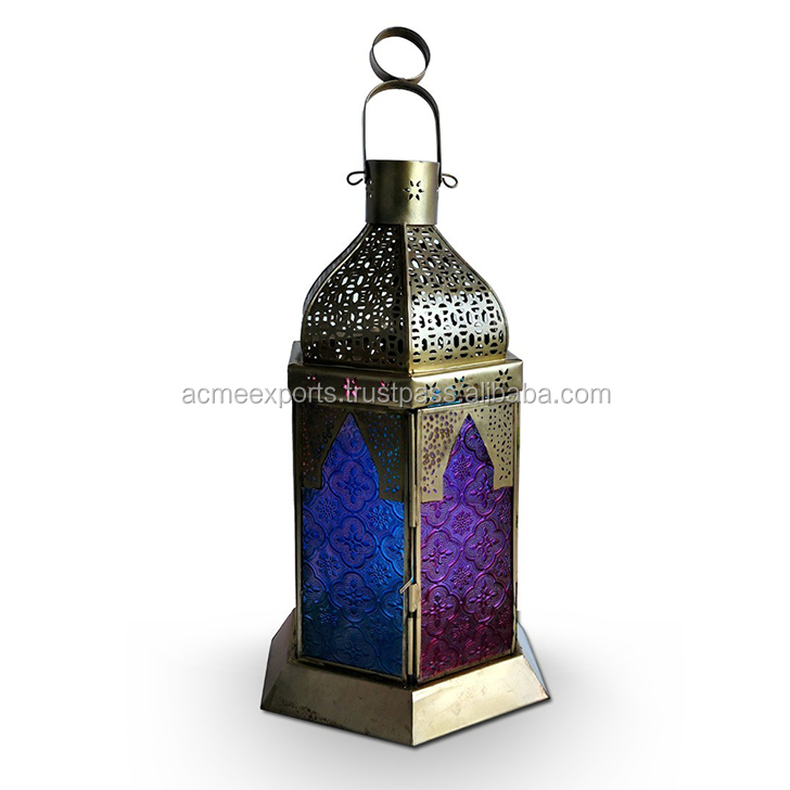 Indian Moroccan Decorative Metal Candle Lantern