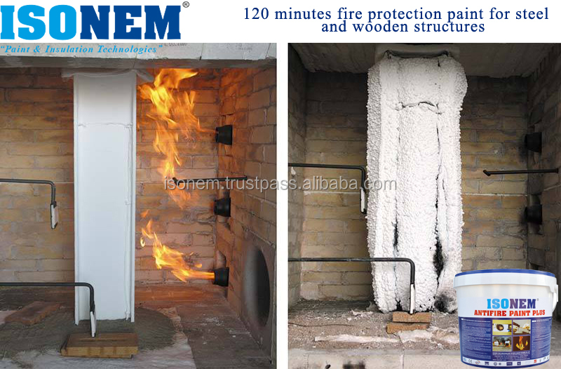 FLAME RETARDANT PAINT FOR STEEL AND WOODEN STRUCTURES, WATER BASED, ECOLOGICAL, NON-TOXIC, MADE IN TURKEY