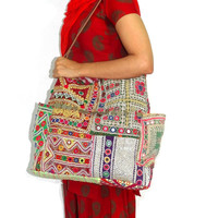 Women's Banjara Bag Vintage Leather Strap Handbag Gypsy Tote Banjara Handbag