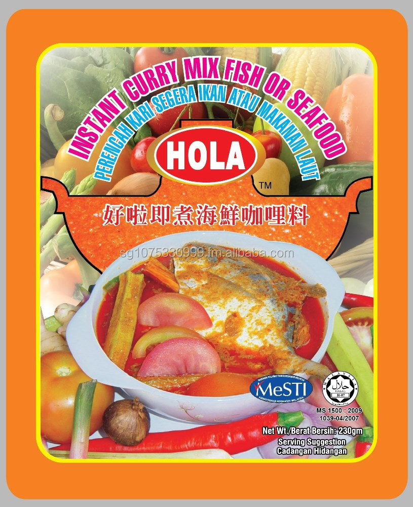 HOLA Instant Curry Mix Paste (Fish/ Seafood)