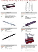 Surgical kit containing a plastic blade handle, sharpening stone and 3 quality surgical blades Nos,Jewelry Tools