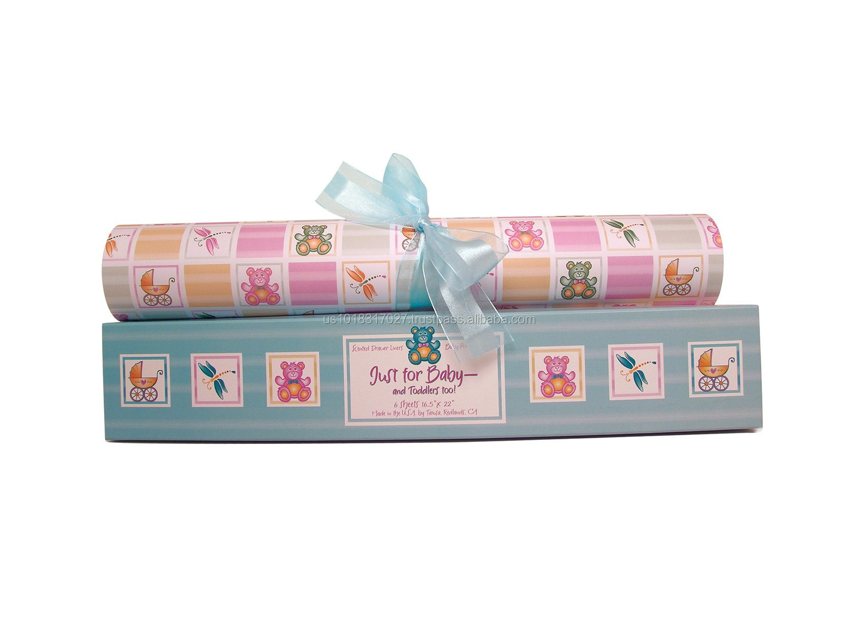 Just for Baby New - Blue/Aqua Scented Drawer Liner From Scentennials