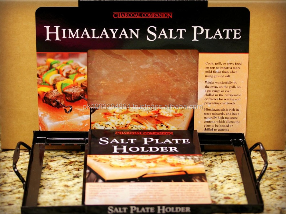 Himalayan Salt Cooking Plates with Holder [ 8 x 8 x 2]
