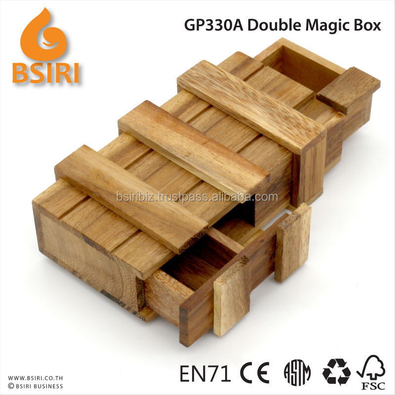 Intelligence Magic Wooden Secret Box Compartment Drawer Puzzles Toy