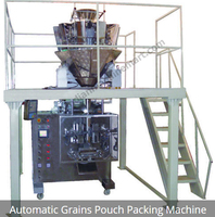Automatic Grains pouch Packing Machine(Made in India)/Stainless Steel Vertical Automatic Pouch Grains Packing Machine