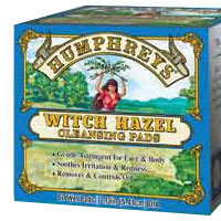 Witch Hazel Pads, 60 ct by Humphreys Homeopathic Remedies