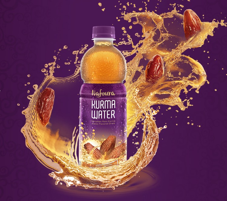 "Halal Supplement Drink ""Nafoura Kurma Water"" Dates Juice for Healthy Ramadan"
