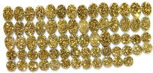 New Arrival Stylish Coated Gold Druzy Coin Shape 5MM Approx AAA++ Good Quality On Whole Sale Price
