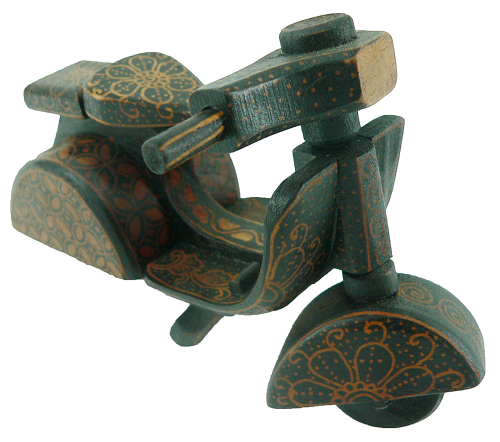 Batik Wood Miniature Vintage Scooter, Vespa scale 1:12)