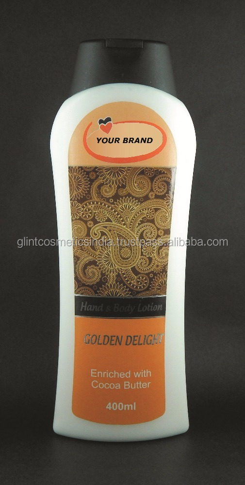 Hand & Body Lotion Golden Delight Enriched with Cocoa Butter