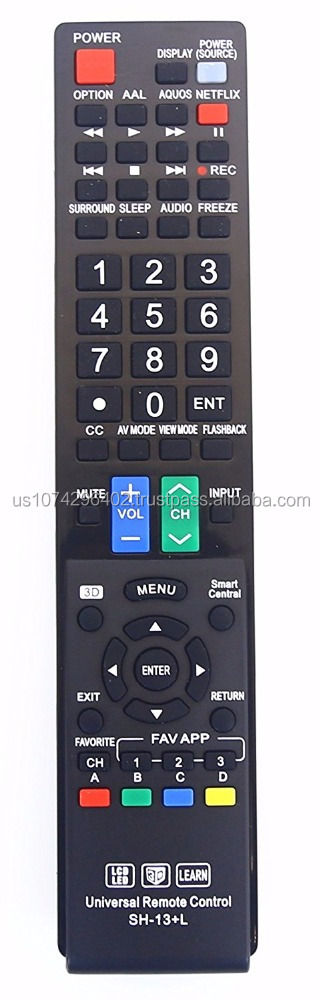 Sharp GB004WJSA Universal Remote Control for All Sharp BRAND TV, Smart TV - 1 Year Warranty