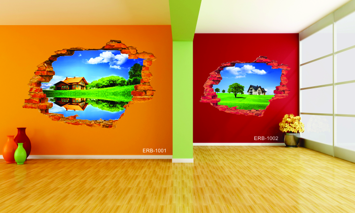3d vinyl room art customize design & sizes available