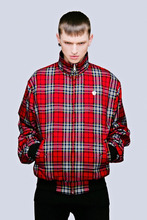 New Men's Latest Reversible Harrington Jacket/100% Cotton Unisex Brand design/High Quality Plain Black / Red Tartan color