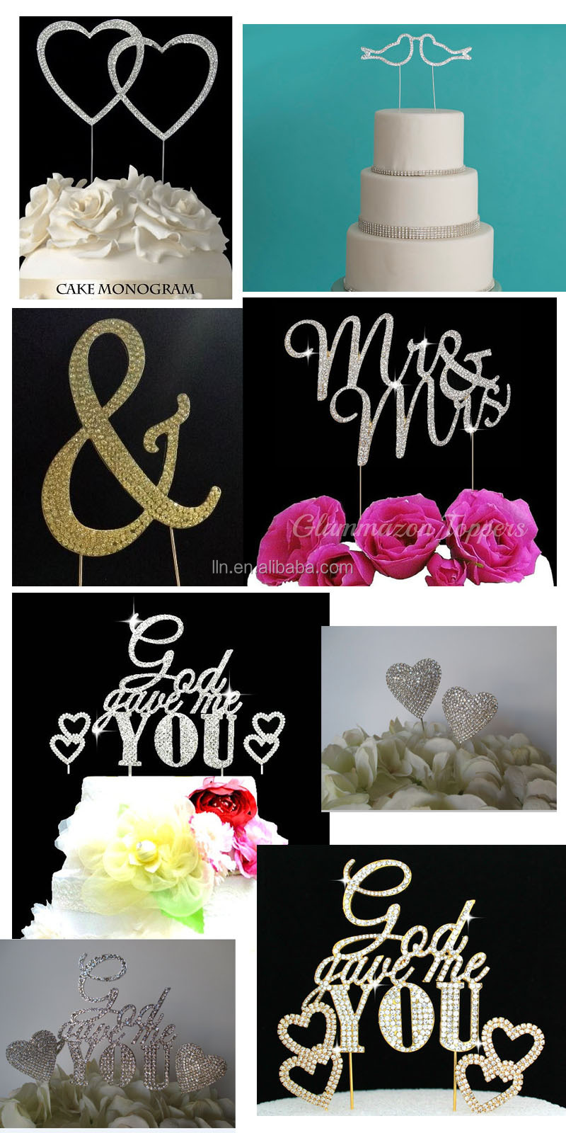 Mr & Mrs and Butterfly rhinestone cake topper /funny wedding cake toppers