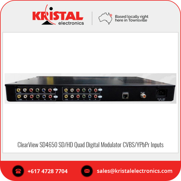 Affordable Price ClearView SD4650 SD/HD Quad Digital Modulator for High Quality Audio and Video